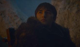 Bran Stark (Isaac Hempstead Wright) waits in the Godswood