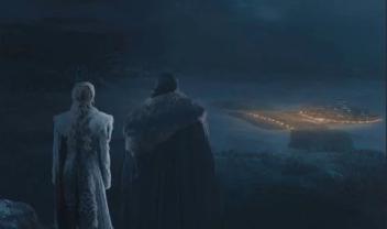 Daenerys Targaryen Jon Sow view Game of Thrones S08e03