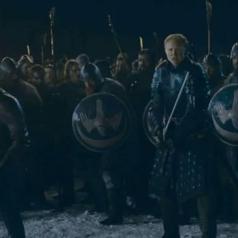 Jaimee Lannister (Nikolaj Coster-Waldau) and Brienne of Tarth (Gwendoline Christie)