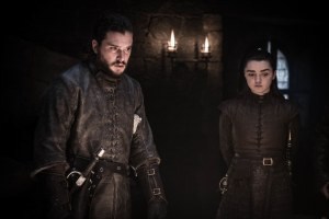 Jon Snow Arya Stark Game of Thrones S08E02