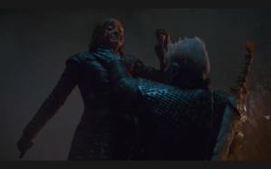 Night King chokes Arya Game of Thrones The Long Night