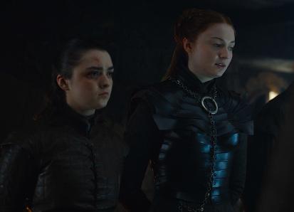 Arya Sansa Stark Game of Thrones The Last of the Starks