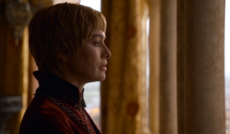Cersei Lannister watches the attack on King's Landing