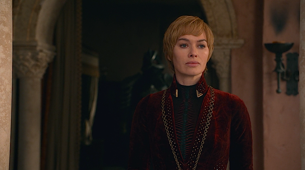 Cersei Lannister stares Game of Thrones the Bells