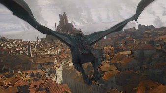 Drogon and Daenerys begin the fire bombing of King's Landing