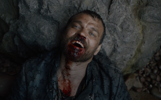 "Grinning madly, Euron Greyjoy says to himself, ""I'm the man who killed Jaime Lannister."""