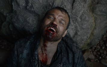 "Grinning madly, Euron Greyjoy says to himself, ""I'm the man who killed Jaime Lannister."""