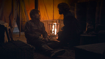 Jaimee and Tyrion Lannister say good-bye