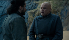 """Varys tells Jon, """"They say every time a Targaryen is born the gods toss a coin and the world holds its breath."""""""