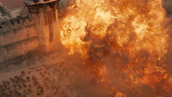 Drogon demolishing the Golden Company