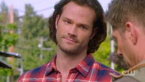 Sam smirks Supernatural Proverbs 17:3